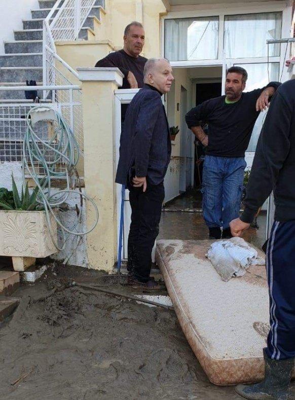 Περιοδεία του Δημάρχου στις πληγείσες από την κακοκαιρία περιοχές του νησιού