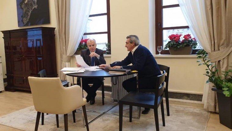 Μακρά συνεργασία του Δημάρχου Ρόδου Αντώνη Καμπουράκη με τον Περιφερειάρχη Νοτίου Αιγαίου Γιώργο Χατζημάρκο