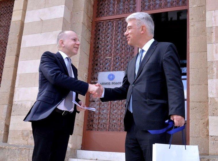 Συνάντηση του νέου Γερμανού Πρέσβη στην Ελλάδα  με τον Δήμαρχο Ρόδου