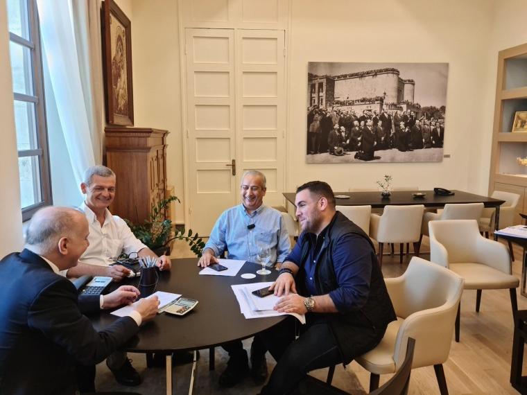 Συνάντηση εργασίας με τον πρόεδρο του Φαρμακευτικού Συλλόγου Δωδεκανήσου Νίκο Φουτούλη