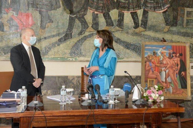 "Eπίσκεψη της Προέδρου της Επιτροπής ""Ελλάδα 2021"" Γιάννας Αγγελοπούλου στη Ρόδο"