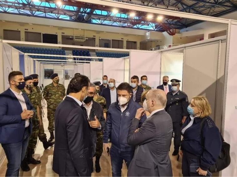 Επίσκεψη με τον Υφυπουργό Νίκο Χαρδαλιά στο mega εμβολιαστικό κέντρο